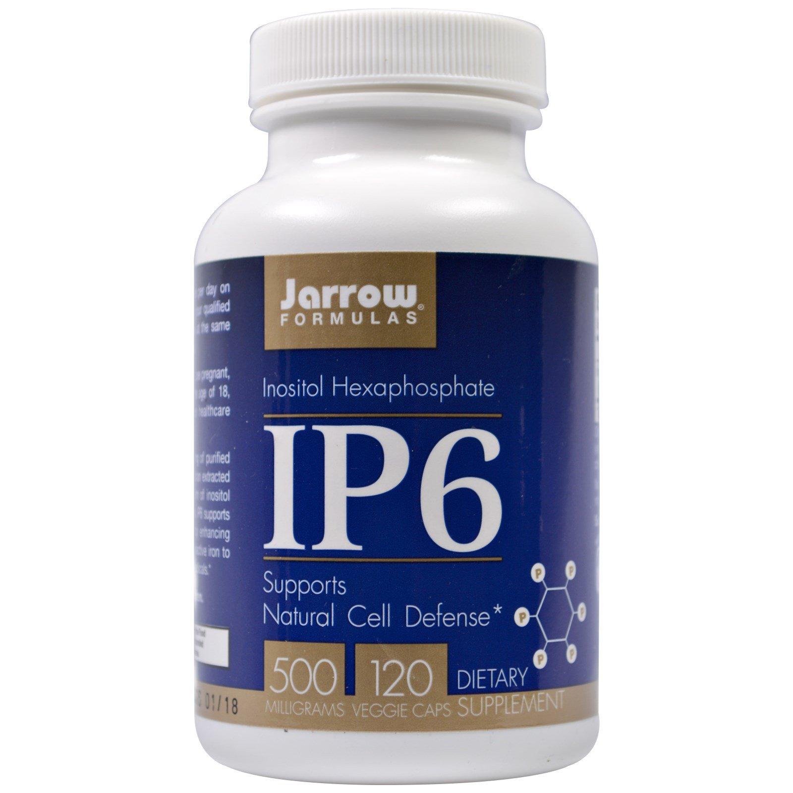 Details about IP6- Inositol Hexaphosphate 500 mg (120 Vegetarian Capsules)  - Jarrow Formulas