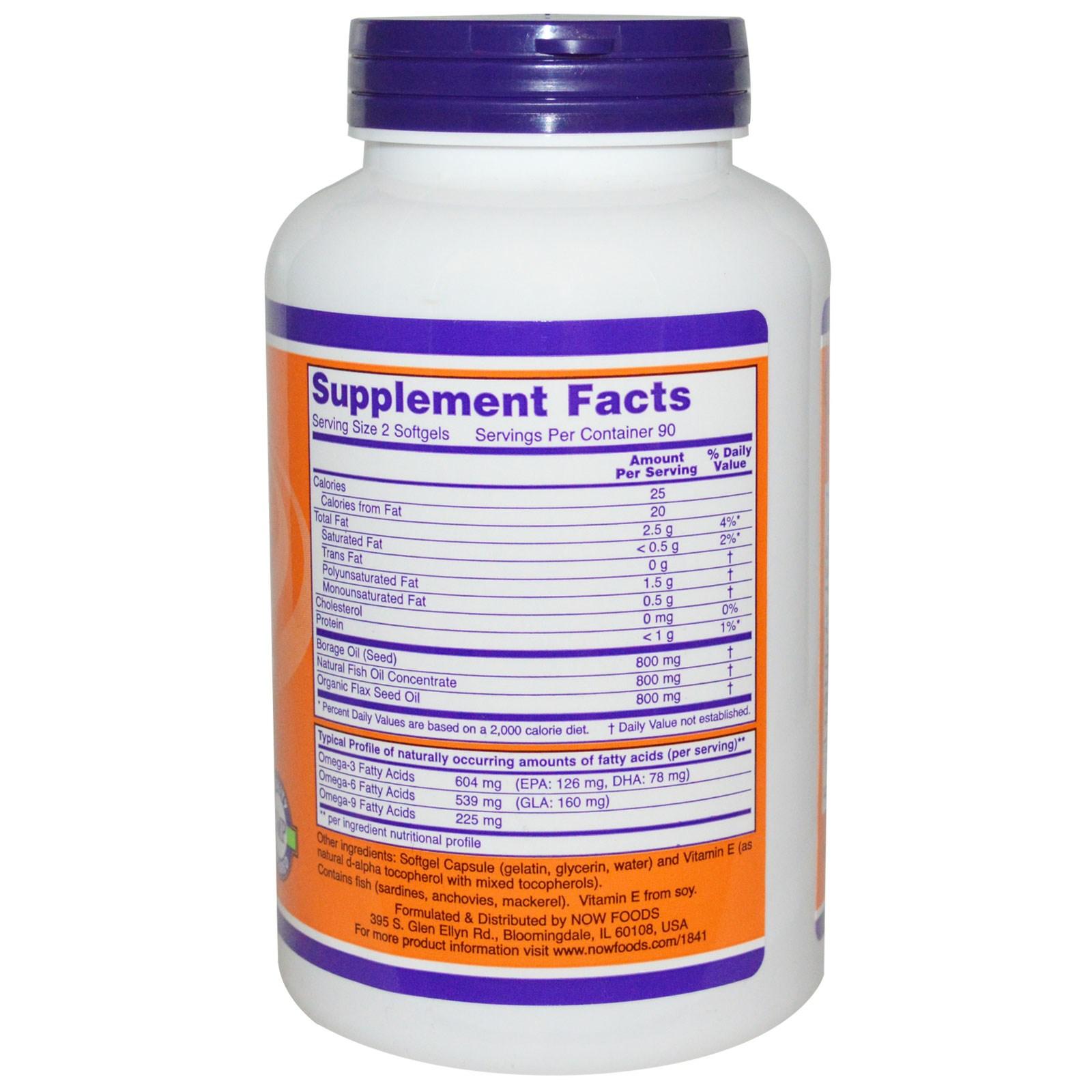 Super Omega 3 6 9 1200 Mg 180 Softgels Now Foods Healthy Care 369 200 Caps