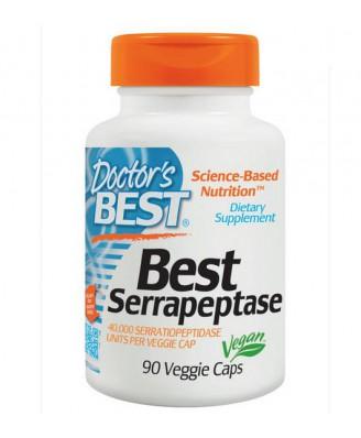 Best Serrapeptase 40.000 SPU (90 Veggie Caps ) - Doctor's Best
