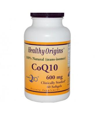 CoQ10 Kaneka Q10 600 mg (60 Softgels) - Healthy Origins