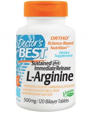 L-Arginine 500 mg (120 Bilayer Tablets ) - Doctor's Best