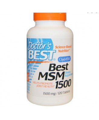 Best MSM 1500 - 1500 mg (120 Tablets) - Doctor's Best