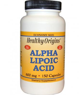 Alpha Lipoic Acid 600 mg (150 Capsules) - Healthy Origins