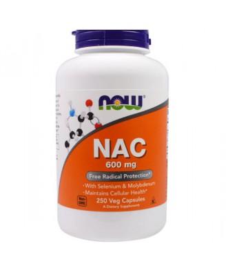 NAC 600 mg (250 Veggie Caps) - Now Foods