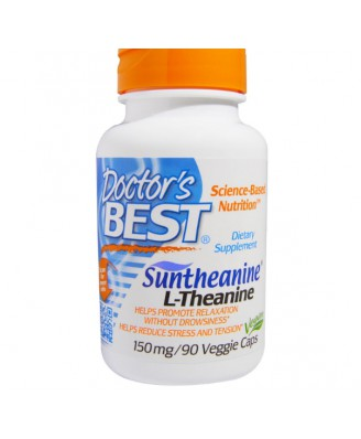 Suntheanine L-Theanine 150 mg (90 Veg Capsules) - Doctor's Best