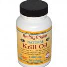 Krill Oil Natural Vanilla Flavor 1000 mg (60 Softgels) - Healthy Origins