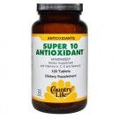 Super 10 Antioxidant (120 Tablets) - Country Life