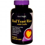 Natrol, Red Yeast Rice with Garlic, 60 Tablets