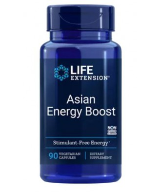 Asian Energy Boost - 90 vegetarian Capsules - Life Extension