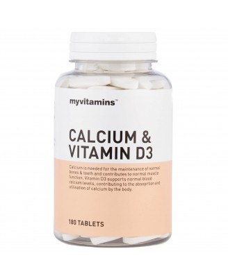 Calcium & Vitamin D3 (180 Tablets) - Myvitamins