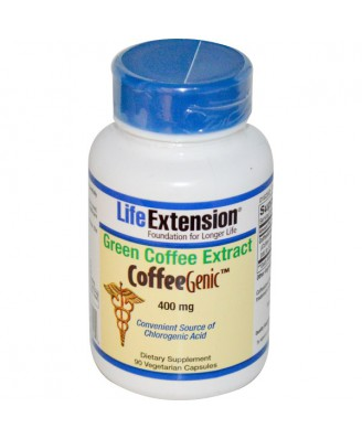 CoffeeGenic Green Coffee Extract 400 mg (90 Veggie Capsules) - Life Extension