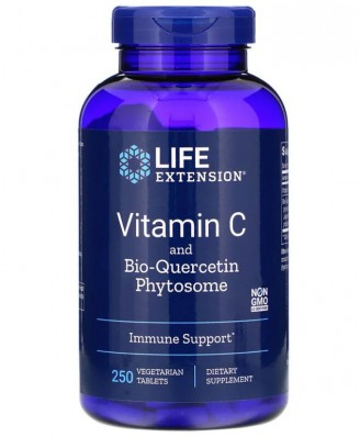 Vitamin C with Dihydroquercetin 1000 mg (250 Veggie Tablets ) - Life Extension