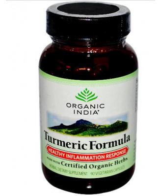 Organic India, Turmeric Formula, Healthy Inflammation Response, 90 Veggie Caps