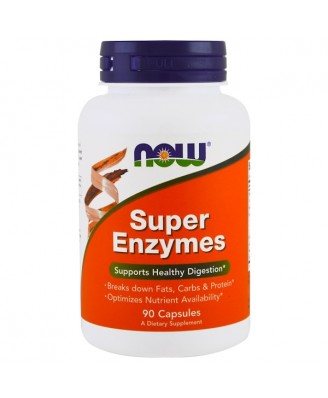 Super Enzymes (90 capsules) - Now Foods