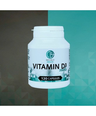 Niche4health Vitamine D3 2000IU 120 Softgels
