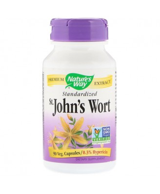 Nature's Way, St. John's Wort, Standardized, 90 Capsules