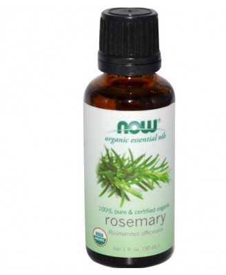 Organic Essential Oils Rosemary (30 ml) - Now Foods
