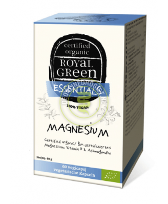 Magnesium Organic – 60 vcaps – Royal Green