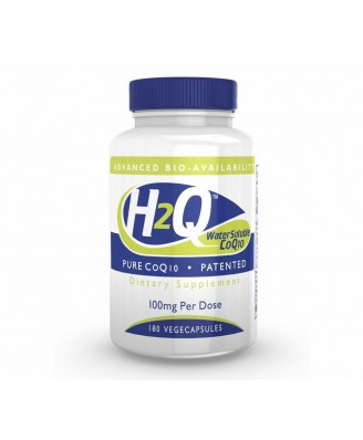 H2Q CoQ-10 (8x Absorption) 100 mg (non-GMO) (180 Vegicaps) - Health Thru Nutrition