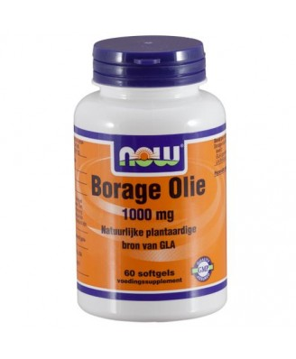 Now Foods, bernagie olie, 1000 mg, 60 gelcapsules