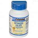 Geoptimaliseerd Foliumzuur (L-Methylfolate), 1000 mcg (100 Veggie Caps) - Life Extension