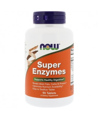 Super Enzymes (90 tablets) - Now Foods