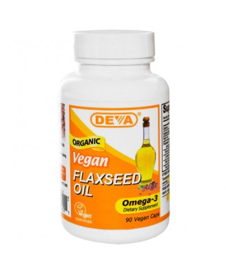 Flaxseed Oil Vegan (90 Vegan Caps) - Deva