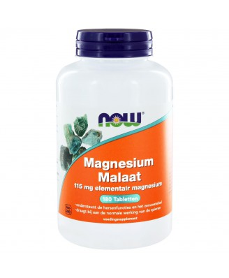 Magnesium Malaat 150 mg (180 tabs) - NOW Foods