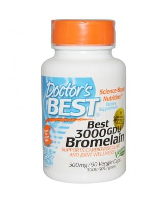 Best 3000 GDU Bromelain 500 mg (90 Veggie Caps) - Doctor's Best