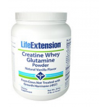 Creatine whey glutamine powder (vanilla) - 454 grams - Life Extension