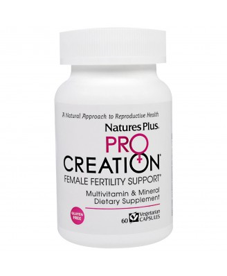 ProCreation, Female Fertility Support (60 Veggie Caps) - Nature's Plus