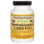 Healthy Origins, Nattokinase, 2,000 FU's (100 mg), 60 Vcaps