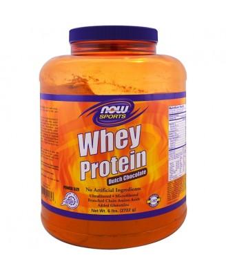 Whey Protein- Dutch Chocolate  (2722 gram) - Now Foods