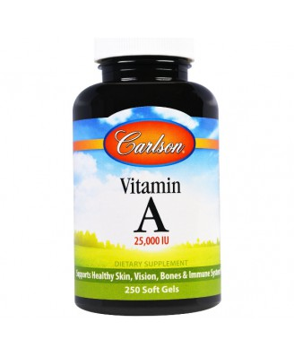 Carlson Labs, Vitamin A, 25000 IU, 250 softgels