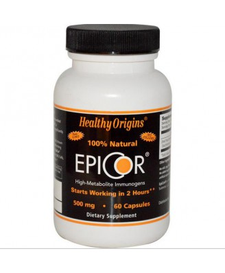 Healthy Origins, EpiCor, 500 mg, 60 Capsules