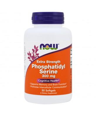 Extra Strength Phosphatidyl Serine- 300 mg (50 softgels) - Now Foods