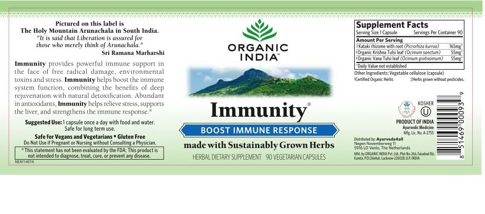 Buy Immunity Formula 90 Veggie Caps Organic India