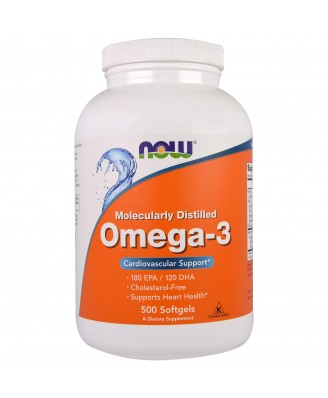 Omega-3 (500 Softgels) - Now Foods