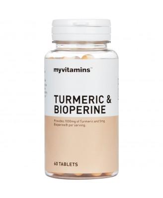 Myvitamins Turmeric & Bioperine, 180 Tablets (180 Tablets) - Myvitamins