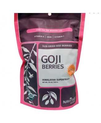 Navitas Naturals, Goji Berries, Sun-Dried, 16 oz (454 g)
