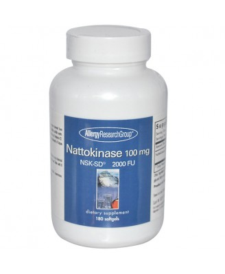 Nattokinase NSK-SD 2000 FU 100 mg 180 Softgels - Allergy Research Group