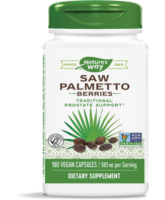Saw Palmetto Berries 585 mg (180 Capsules) - Nature's Way