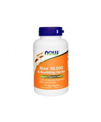 Aloe 10.000 & Soothing Herbs (90 Vegetarian Capsules) - Now Foods