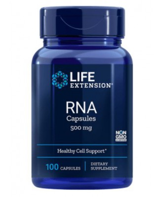 RNA (Ribonucleic Acid) 500 mg - 100 capsules - Life Extension