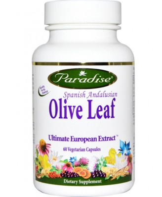 Paradise Herbs, Spanish Andalusian Olive Leaf, 60 Veggie Caps