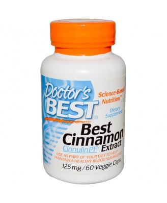 Best Cinnamon Extract 125 mg (60 Veggie Caps) - Doctor's Best
