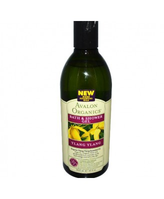 Avalon Organics, Bath & Shower Gel, Ylang Ylang, 12 fl oz (355 ml)