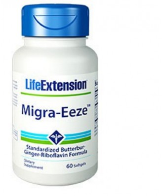 Migra-Eeze Standardised Butterbur-Ginger-Riboflavin Formula- 60 softgels - Life Extension