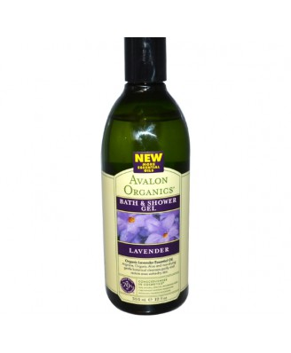 Avalon Organics, Bath & Shower Gel, Lavender, 12 fl oz (355 ml)