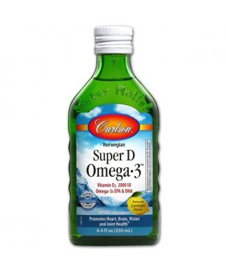 Norwegian Super D Omega3 Lemon Flavor (250 ml) - Carlson Laboratories